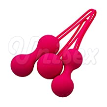 Zytree(TM) ( 3 pcs/Lot )Pink Lady Silicone Ben Wa Balls Vagina Trainer Dumbbell Set, Women S-e x Toys Adult Products