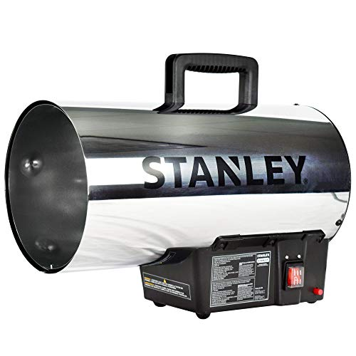 STANLEY ST-60HB2-GFA Gas Forced Air Heater, 60,000 BTU, Black, Silver