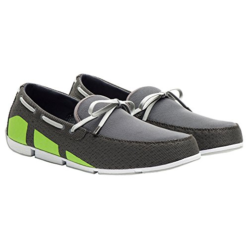 New Swims Breeze Loafer Steel/Green 8 Mens Shoes by SWIMS
