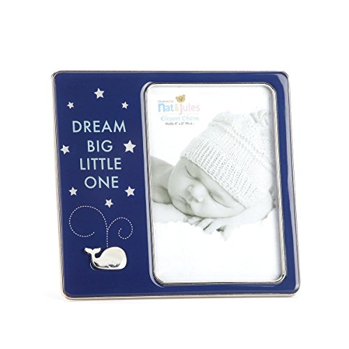 DEMDACO Dream Big Little One Whale Photo Frame, 4