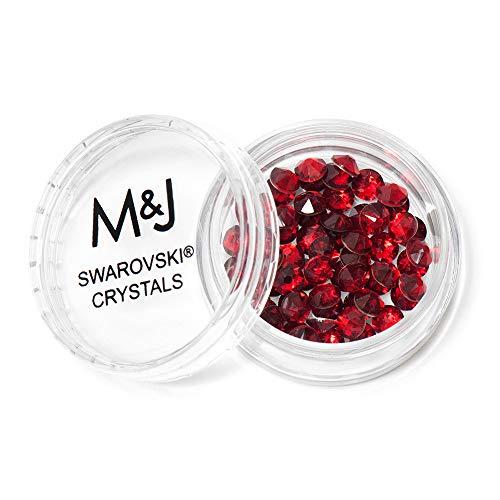 Swarovski Crystals Flat Back Rhinestones - 2088 Xirius Rose Round Foil Backed - SS20 (4.6mm-5mm) - Indian Siam 327 ()