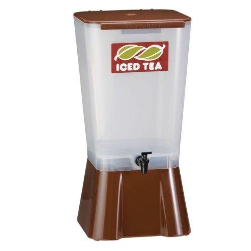 Tablecraft Brown 5 Gallon Plastic Beverage Dispenser | Cold Drink Dispenser for Catering, Buffet or Restaurant Use