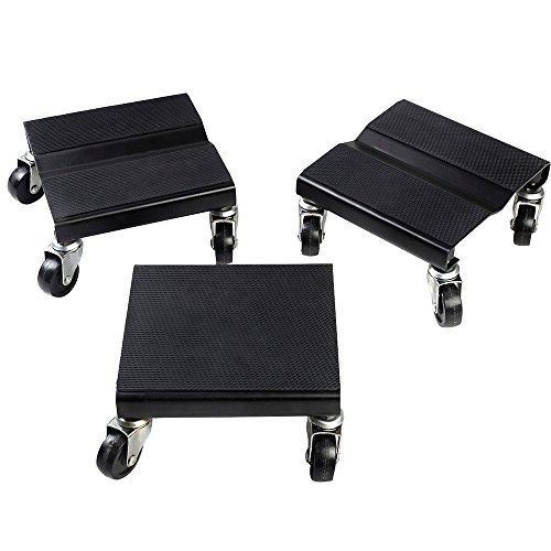 TOMTOP 1500 LBS Snowmobile Roller Set 3 PCs Dolly Storage Dollies Mover Snow Mobile New