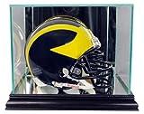 NFL Mini Football Helmet Glass Display Case, Black