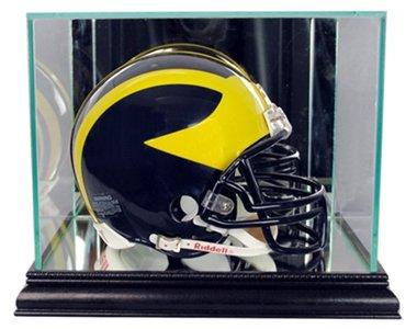 NFL Mini Football Helmet Glass Display Case, Black - Gold Nfl Signature Football