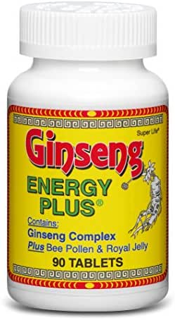 Ginseng Energy Plus - with Panax Ginseng, Bee Pollen, Royal Jelly, Bee Propolis, BioPerine Black Pepper Extract for Max Absorption | Promotes Natural Boost of Energy | Supplement - 90 Tablets