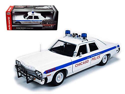DIECAST 1:18 1974 Dodge Monaco Chicago Police AMM987 AUTO WORLD