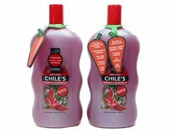2 X Natturalabs Chili Rosemary Shampoo/Anticaida Chiles Romero & Espinosilla 33.8 oz by Naturralabs