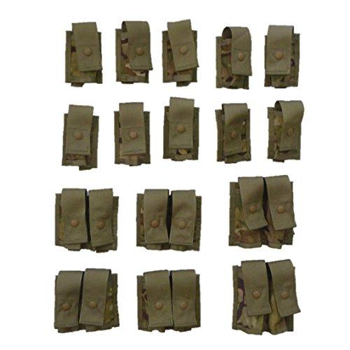 Molle 40mm Grenade - USGI MultiCam Grenadier Pouch Set, 40mm Grenade, MOLLE II
