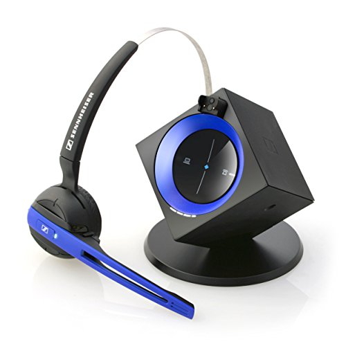 Sennheiser OfficeRunner Wireless Headset with Microphone, Blue