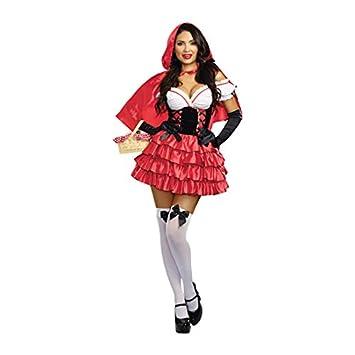 d43d6bf4ea4a Dreamgirl 10314 Cappuccetto Rosso costume (Small)  Amazon.it  Giochi ...