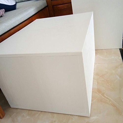 Moyishi Self Adhesive white wood grain furniture stickers PVC wallpaper cabinets Gloss Film Vinyl Counter Top Decal 24''x79'' by Moyishi (Image #4)