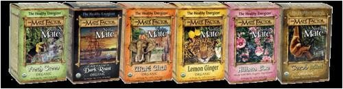 The Mate Factor, Yerba Mate Lemon Ginger Organic Tea 20 Tea Bags