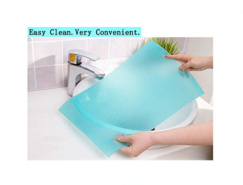 Zinnor 4 Pcs Refrigerator Pads,Refrigerator Mats,EVA Refrigerator Liners Washable Can Be Cut Refrigerator Pads Antibacterial Mats Antifouling Drawer Table Placemats【LW=17.69\