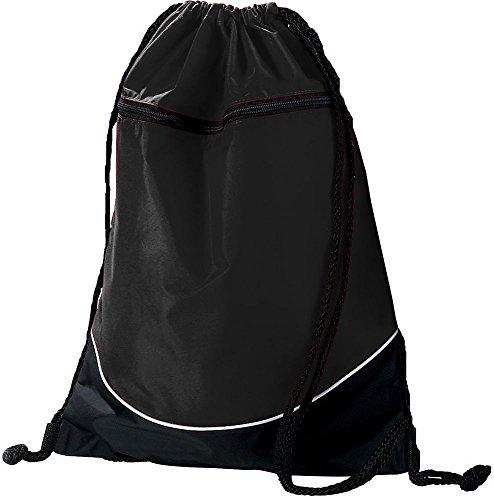 Augusta Sportswear TRI-COLOR DRAWSTRING BACKPACK OS Black/