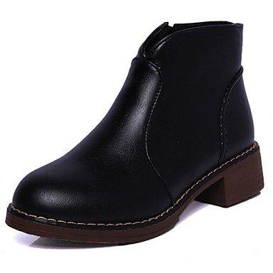 RTRY Zapatos De Mujer Otoño De Goma Botas Botas De Combate Chunky Talón Puntera Redonda Para El Exterior Negro Us8 / Ue39 / Uk6 / Cn39 US6.5-7 / EU37 / UK4.5-5 / CN37