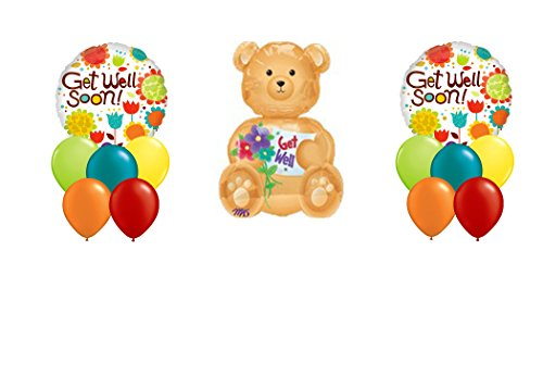 Get Well Soon! Recovery Balloon Bouquet 13PC