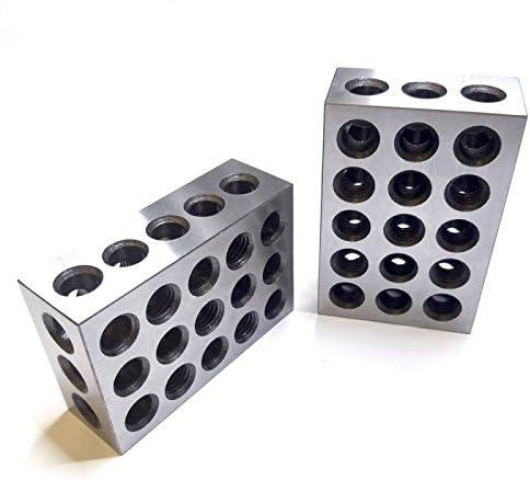 """Parallelblöcke englischen 1-2-3 Blöcke 25 x 50 x 75mm 0.0001/"""" Fräsmaschine 1Paar"""