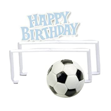 Amazon.com: Feliz Cumpleaños Decoración de Pasteles – Fútbol ...