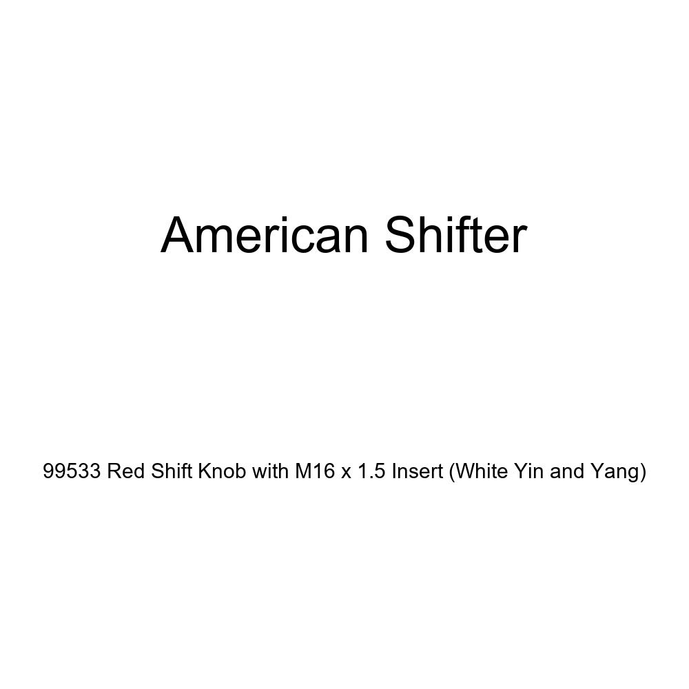 American Shifter 99533 Red Shift Knob with M16 x 1.5 Insert White Yin and Yang