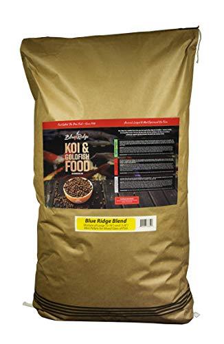 Blue Ridge Fish Food Pellets [50lb] Koi and Goldfish Growth Formula Blend, Mini and Large Floating Pellet, Balanced Diet ()