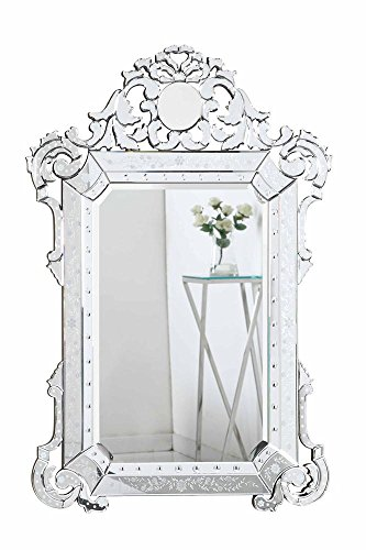 "Elegant Lighting Venetian Clear Mirror, 39.25"" by 1"" by 55.25"" from Elegant Lighting"