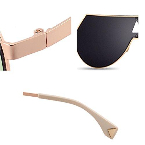 Negro Plata De Personalidad De De Pieza De La La Gafas Sol Gafas Sol Para Color Hombres Gafas Coloridas Una Reflexivas WANGXIAOLIN De Sol 1xUwBq1