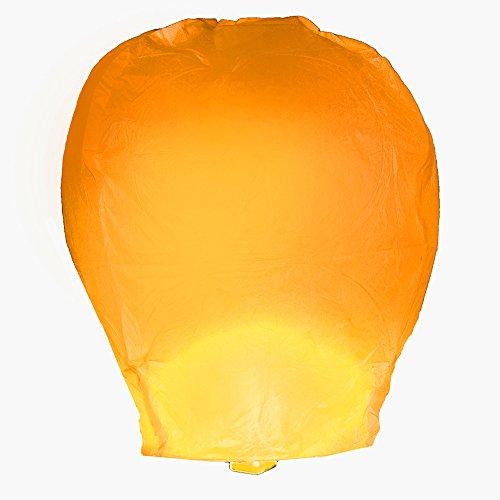 LumaBase-74204-4-Count-Sky-Lanterns-Orange