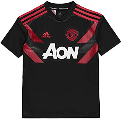 90dad4c74 adidas Manchester United FC 2018 19 Home Pre Match Short Sleeve Jersey -  Youth -