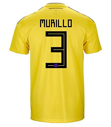 賞賛するオープナー骨の折れるadidas MURILLO #3 Colombia Home Soccer Jersey World Cup 2018 Mens /サッカー ユニフォーム ムリーリョ 背番号 3 コロンビア ホーム用