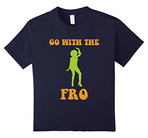 unisex-child With The Afro - Funny Disco T Shirt - 70s Shirt 6 Navy