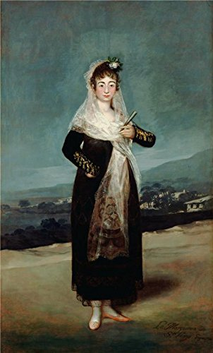 ['Portrait Of The Marquesa De Santi, 1804 By Francisco De Goya' Oil Painting, 30x50 Inch / 76x126 Cm ,printed On Perfect Effect Canvas ,this Replica Art DecorativeCanvas Prints Is Perfectly Suitalbe For Basement Decoration And Home Artwork And] (Russian Spy Costume Female)