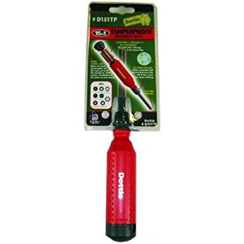 Megapro 151TP 15-In-1 Tamperproof Driver, Red/Black ...