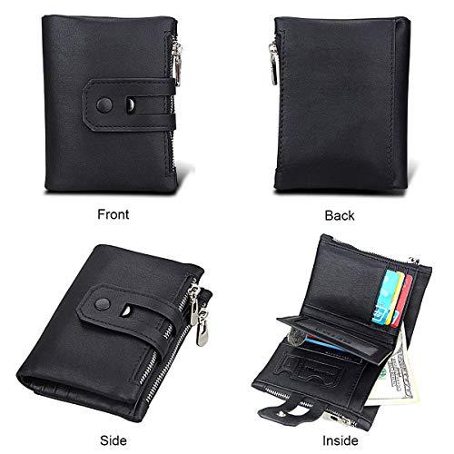 Mens Leather Wallet RFID Blocking Credit Card Holder Coin Pocket Purse 19x1.5x9CM,#1