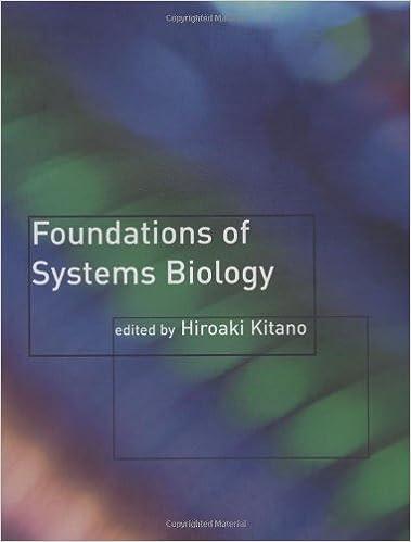 Foundations of Systems Biology - Hiroaki Kitano [PDF]