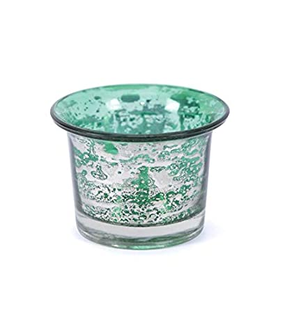 8f3e5443188 Buy Antique Silver Green Glass Votive Candle Holder by Deco Dreamz Online  at Low Prices in India - Amazon.in