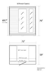 Radiant Saunas BSA1323 6-Person Cedar Carbon Infrared Sauna, 5