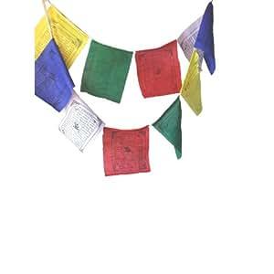 "Large Tibetan Prayer Flag approx 9""x6"", 25 flags per roll"
