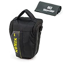 MegaGear High Quality Camera Case Bag for Nikon D610 with 24-85 lens, D7100 with 18-105, D5600, D3400, D3200, D3100, D3300, D5300, D5200, D5100, A5100, Canon Powershot SX520 HS, SX530 HS