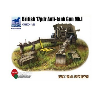 Bronco CB35024-1/35British 17Pounder Anti Tank Gun Mk. I