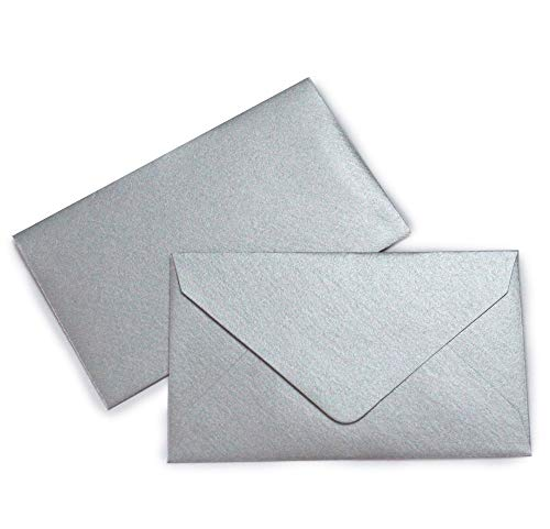 (Mini Envelopes 2 1/2 x 4 1/4- Metallic Silver - 25 pack - My Scratch Offs)