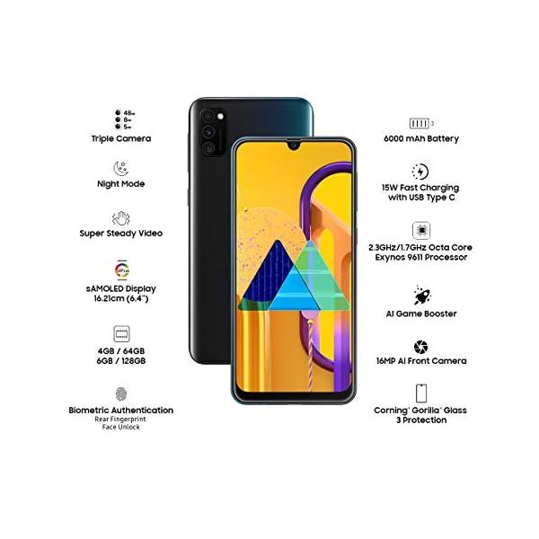 Samsung Galaxy M30s (Opal Black, 6GB RAM, 128GB Storage)