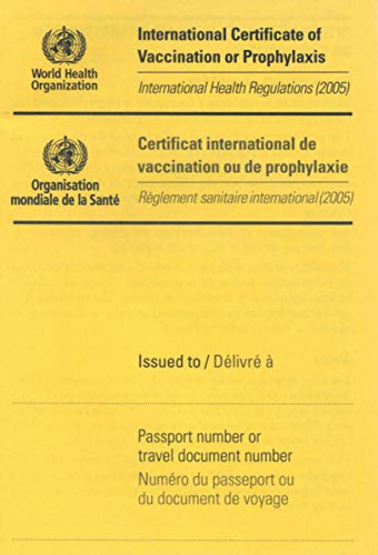 International Certificate of Vaccination with Vinyl