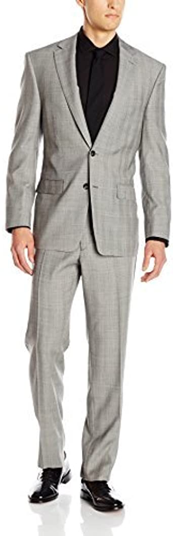 Austin Reed Men S Heathrow Classic Fit Notch Lapel Flat Front Trouser Grey 36 Short Amazon Co Uk Clothing