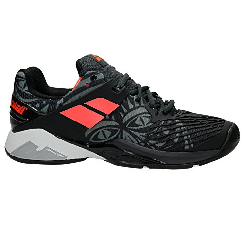 Babolat Men's Propulse Fury All Court Tennis Shoe Tribal Black (8.0)