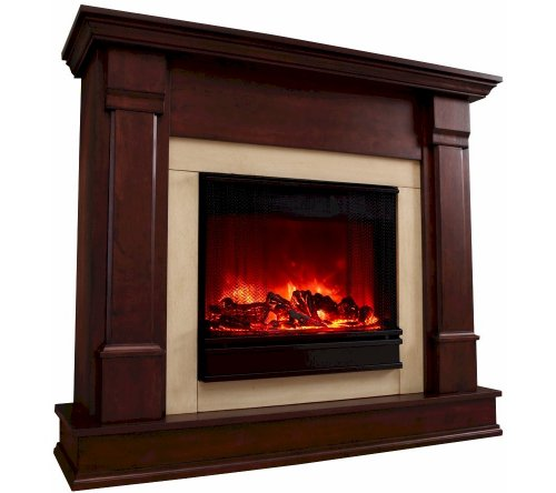 Real Flame Freestanding Electric Fireplace Indoor Usage Heating Capacity 1.35 kW Dark Mahogany G8600E