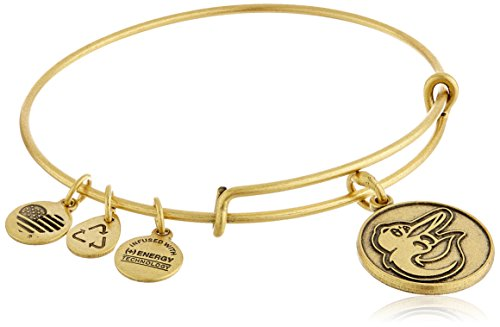 UPC 886787058980, Alex and Ani Baltimore Orioles Cap Logo Expandable Rafaelian Gold Bangle Bracelet