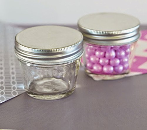 100 DIY Blank Small 4 oz Mason Jars