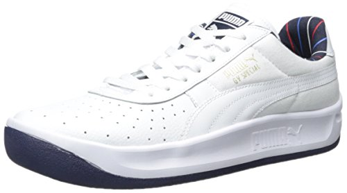 PUMA Men's GV Special Striped White/Peacoat Sneaker 11.5 D - Medium (Puma Gv Special White)