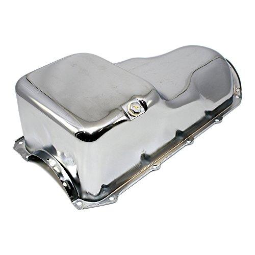 Assault Racing Products A9337 for Pontiac V8 Stock Capacity Chrome Oil Pan (Oil Pan Pontiac 400)